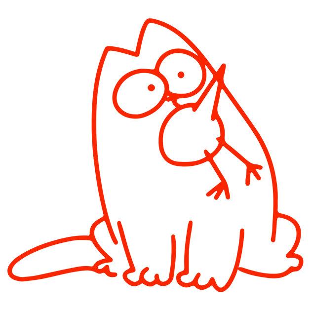 Днем, картинки котов для срисовки легкие
