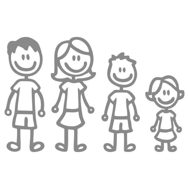 Счастливая семья: мать, отец, дети сын и дочь на Sunse Стоковое ... | 630x630