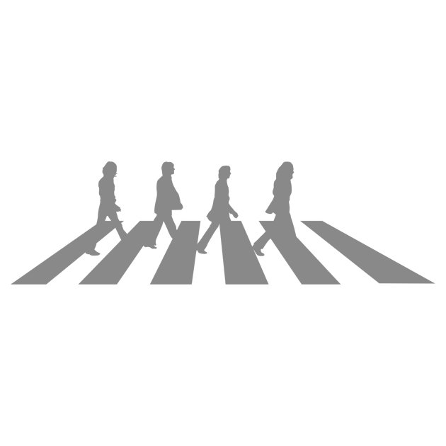 Наклейка Beatles Abbey road