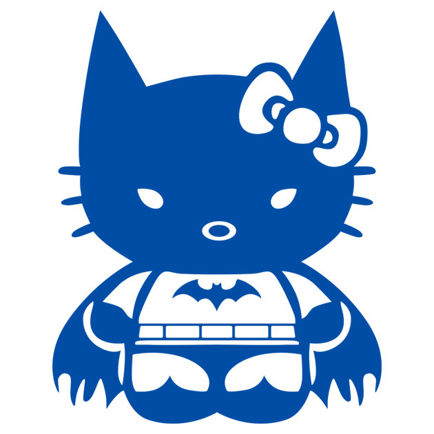 Наклейка KITTY BATMAN